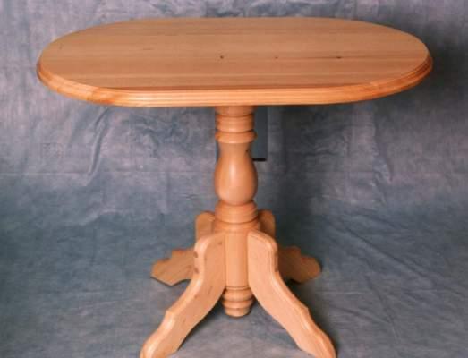 Как сделать деревянный стол на одной ножке